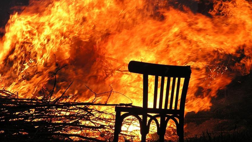 Ночной пожар вЛенинградской области необошелся без жертв