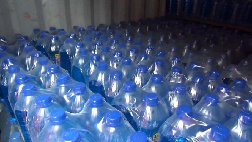 Работники милиции впроцессе обыска изъяли изгипермаркета около 400 литров стеклоомывайки