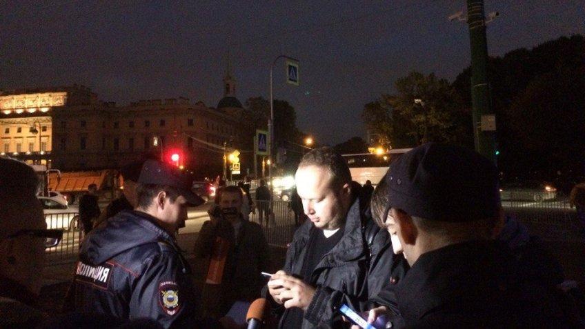 Вовремя акции протеста вПетербурге задержаны 38 человек— МВД