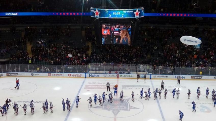 СКА дома обыграл «Нефтехимик», продолжив вКХЛ серию матчей снабранными очками