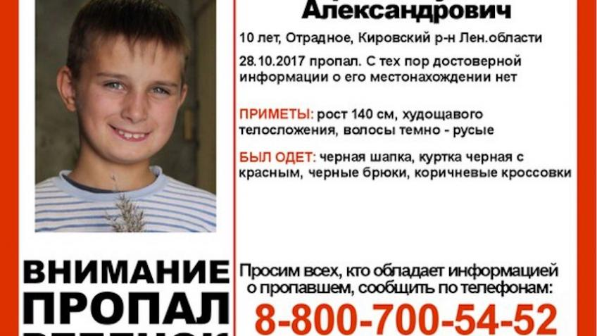 ВЛенобласти исчезновением 10-летнего Руслана Королева занялись следователи