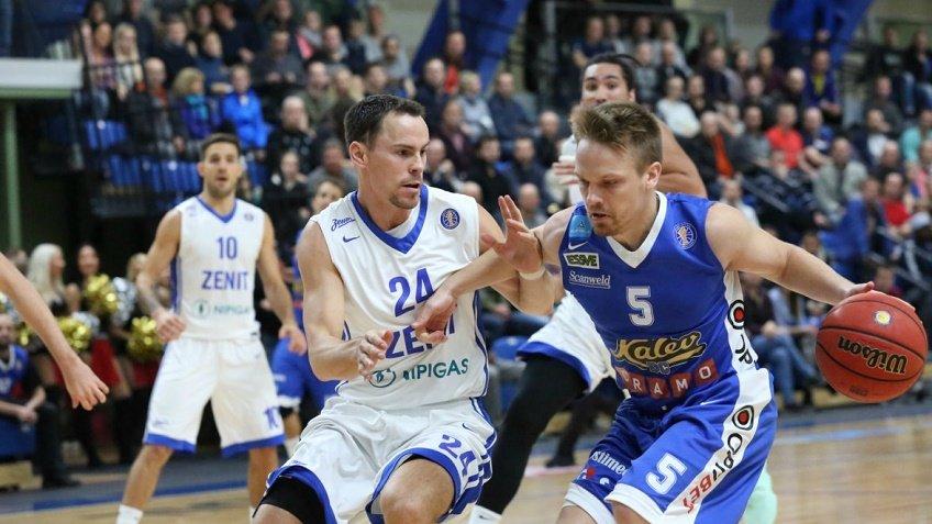 «Зенит» одержал четвертую победу подряд вЕдиной лиге ВТБ, обыграв «Калев»