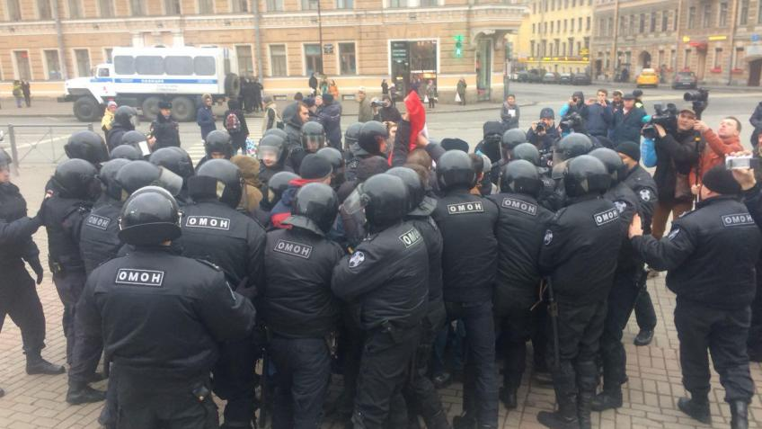 Наакции протеста вПетербурге задержаны 10 нацболов