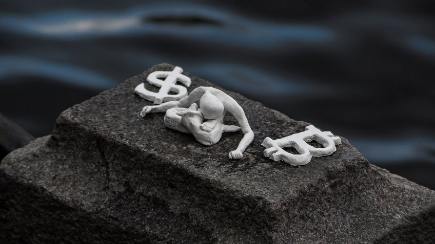 ВПетербурге появился арт-объект, посвященный людям без биткоинов