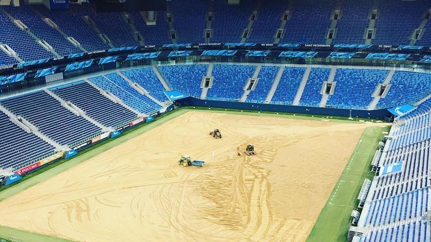Арена «Санкт-Петербург» осталась без газона