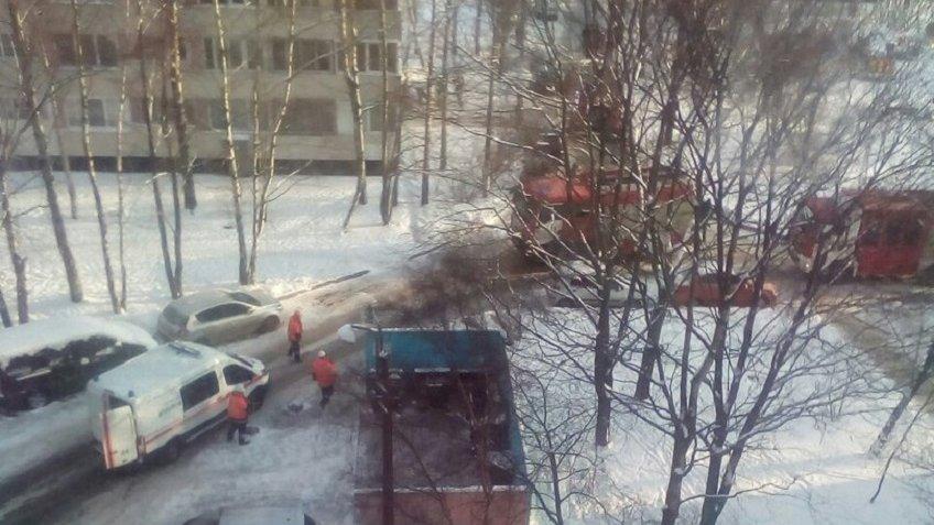 Серьезный пожар тушили вквартире наЛуначарского вПетербурге