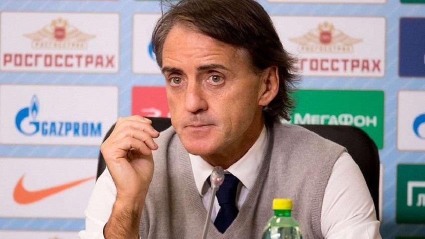 Манчини: шансов выиграть чемпионат у«Зенита» уже фактически нет