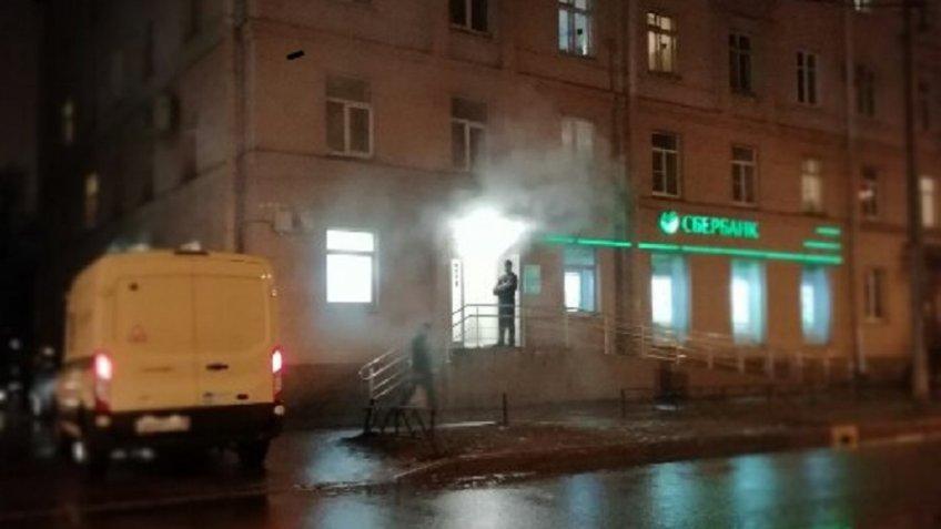 Отделение «Сбербанка» горело вПетербурге