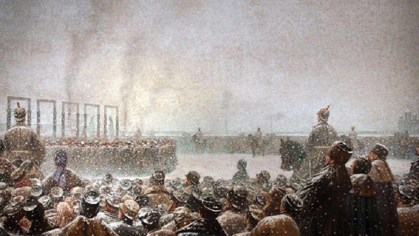 ВПетербург вернулась картина «Казнь заговорщиков вРоссии»